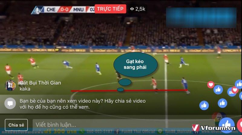 Thao tác livestream bóng đá cũng cực kỳ đơn giản